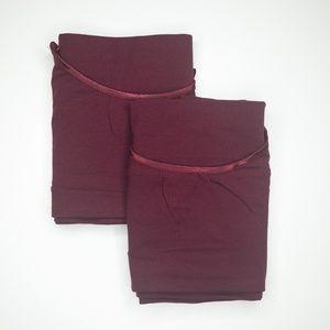 Tops - Bundle of Two Basic Wine Long Length Camies